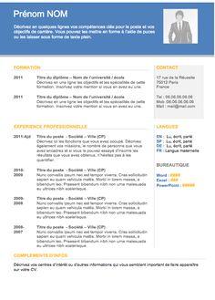 CV Moderne 001 - Des centaines d'exemples de CV gratuits à télécharger sur Créeruncv.com >>>