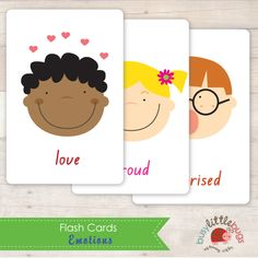 Busy Little Bugs Emotions Flash Cards Printables