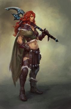 Concept Art — Vandal High Awesome barbarian warrior woman