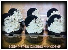 ~SUGAR FREE~   Cookies & Cream Cupcakes!