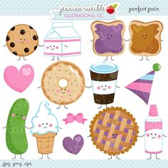 Perfect Pair Cute Digital Clipart Commercial por JWIllustrations