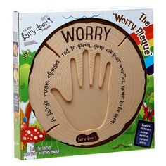 Give your worries to the fairies with this interactive Worry Plaque! Fairy magic can take your worries from you with just one touch, leaving you worry-free. The plaque glows red when you place your hand on it and think of your worry. Holiday Gift Guide, Holiday Gifts, Doors Online, Fantasy Gifts, Finger Lights, Door Plaques, Anxiety In Children, Fairy Doors, Toys Shop