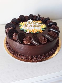 Oreo Cake, Cake Decorating, Desserts, Food, Tailgate Desserts, Dessert, Postres, Deserts, Meals