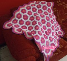 Manta de Flores Africanas Parte 2   Blog Acrochet