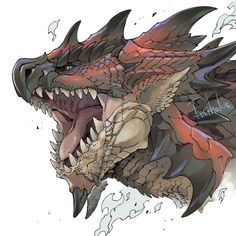 Discover recipes, home ideas, style inspiration and other ideas to try. Monster Hunter Cat, Monster Hunter Rathalos, Monster Drawing, Monster Art, Creature Concept Art, Creature Design, Monster Hunter World Wallpaper, Dragon Artwork, Monster Hunter