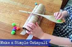 Building a catapult for kids can make you the coolest mom or dad on the block.   Today we have some instructions on how to make a simple catapult.
