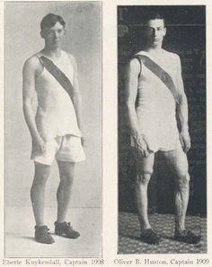 Oregon track stars 1909.  From 1910 Oregana (UO Yearbook).  www.CampusAttic.com