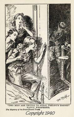 Nancy Drew no.14: The Mystery of the Brass Bound Trunk.
