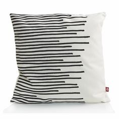 Popsicle - kussen MAKE MY DAY | Stripes | wit-zwart - 50x50cm
