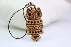 Owl Keychain Phone Chain Ring Key Jewelry