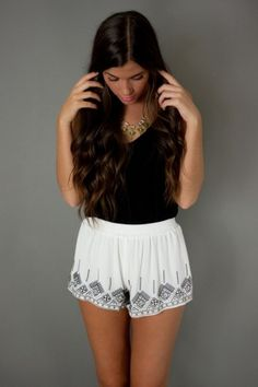 Aztec Flowy Shorts pretty cute