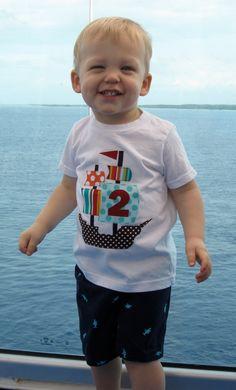 Pirate Ship Birthday Shirt.