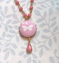 Little Girl  Necklace Pink Butterfly   Shabby Chic by JuvyJewels #integritytt https://www.etsy.com/treasury/NTM5ODkzNXwyNzI0NjEzMTgz/valentines-from-the-heart