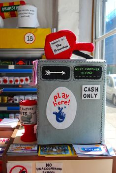 Lucy Sparrow's felt Cornershop - http://madebymrsm.co.uk/2014/08/20/the-felt-cornershop/ - Made By Mrs M