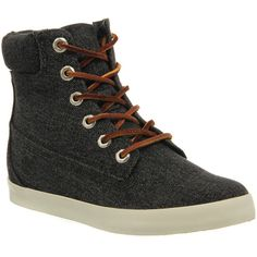 Ankle Boots by Timberland. Glastenbury 6 inch boot by Timberland in a black washed demin with a lace up front, padded collar and an off white cupsole. Premium …