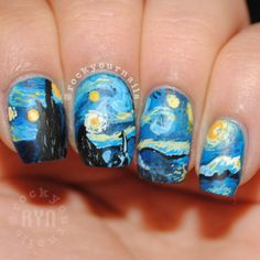 Van Gogh Nails Of The Day This Is Really Cool But Who Has