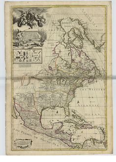map from 1714 with most of North America shown as 'incognita' #writingprompt