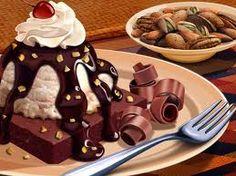 chocolate brownie a la mode with hot fudge