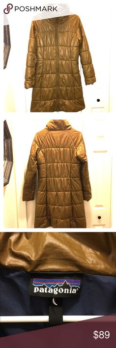 """Patagonia Puffer Jacket - Gold - Size M Patagonia Puffer Jacket - Gold - Size M (tag removed). Excellent condition. The gold is beautiful and on trend with """"shine"""" and metallics being important in fashion. Great price already, but bundle to save 20%. Reasonable offers always considered :) let me know if you have questions! Patagonia Jackets & Coats Puffers"""