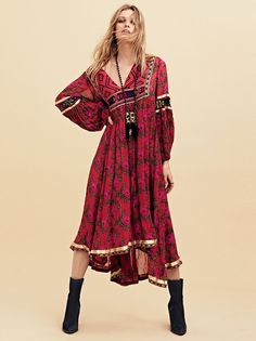 Bold Blooms Embroidered Dress at Free People Clothing Boutique