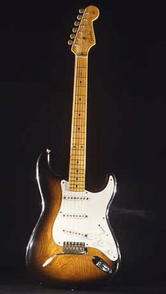 Buddy Holly's 1958 Fender Stratocaster Fender Stratocaster, Fender Guitars, Fender Vintage, Vintage Guitars, Guitar Shop, Cool Guitar, Music Guitar, David Gilmore, Flamenco Guitar Lessons
