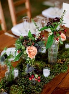 58 Inspiring And Natural Woodland Wedding Centerpieces   HappyWedd.com