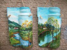 Ateliê Articulando Artes: Pintura em telha, pintura em madeira, MDF, mandalas e reciclagem