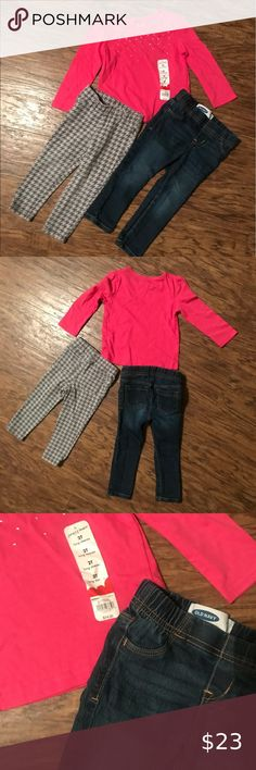Girls Bundle Size Girls 1 top jumping beans NWT Long sleeve Bling T. Surfer Girl Style, Jumping Beans, Girl Fashion, Style Fashion, Jeggings, Old Navy, Kids Outfits, Children Clothing, Denim