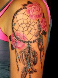 Dream Catcher and Roses Tattoo - Tattoo Shortlist