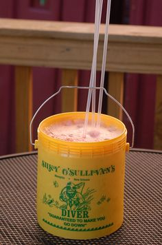 "The Diver Bucket at Silky O'Sullivan's on Beale Street. It's an actual 1 gallon bucket filled with some type of unknown alcoholic drink. Apparently the ingredients are a secret. The slogan though is ""Guaranteed to make you go down"". Crazy!!!    Mah Bukkit! by ilovememphis, via Flickr"