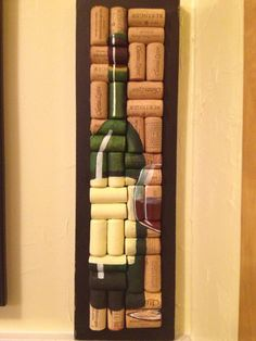 Hand Painted Wine Bottle and Glass On Cork by WineALotMore on Etsy