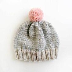 Image of Platinum & Heather Stripe Hat
