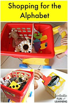 Shopping for the Alphabet-Practice letter recognition and beginning sounds in this active ABC game for preschoolers