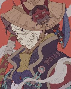 Aesthetic Art, Aesthetic Anime, Japon Illustration, Botanical Illustration, Gatos Cool, Arte Ninja, Motif Art Deco, Samurai Artwork, Dope Art