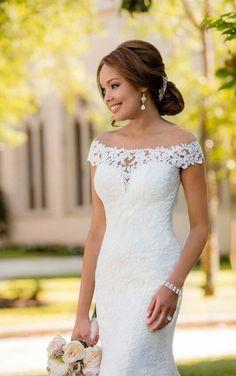 6639 Bohemian Lace Wedding Gown by Stella York