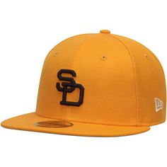 size 40 0d1d7 852f9 Men s San Diego Padres New Era Gold Cooperstown Collection Wool Standard 2  59FIFTY Fitted Hat