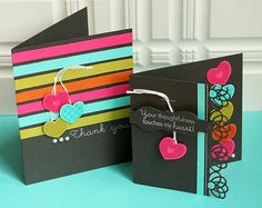 Bold Thank You Card Duo by Danielle Flanders for Papertre y Ink (July 2012)