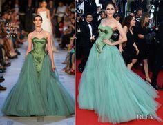 Araya A. Hargate In Zac Posen - Cleopatra Cannes Film Festival Premiere - Red Carpet Fashion Awards
