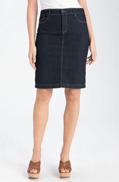 jeans, pencil skirt, dark wash
