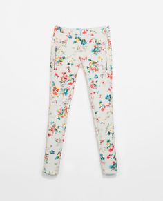 ZARA - SALE - PRINTED NEOPRENE TROUSERS