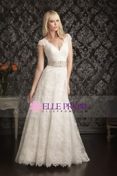 Cheap dress vest, Buy Quality dress arm directly from China dress flax Suppliers: 2014 Vintage Lace Bridal Gowns Beaded Waist 1940 s Wedding Dresses A Line Short Sleeves Vestido De Noiva Sheer Back Most Beautiful Wedding Dresses, Wedding Dresses Photos, Country Wedding Dresses, Wedding Dress Trends, Bridal Dresses, Wedding Gowns, Bridesmaid Dresses, Wedding Ceremonies, Wedding Reception