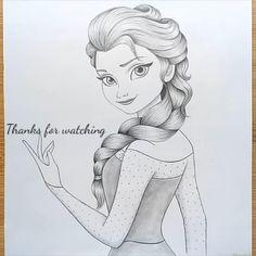 Disney Drawings Sketches, Girl Drawing Sketches, Girly Drawings, Art Drawings Sketches Simple, Cartoon Drawings, Pencil Sketches Of Girls, Simple Disney Drawings, Cartoon Pencil Sketches, Disney Pencil Drawings