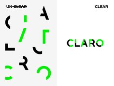 Claro means Clear in Portuguese. Claro is a consultancy agency focused on simplifying and making communication clear.Simplicity and clarity are the keywords for this brand.The logo is built with simple parts and these parts if organized in a correct way& Tolle Logos, Focus Logo, Data Logo, Book Design, Web Design, Communication Logo, Studio Background Images, Typo Logo, Graphic Design Inspiration