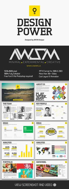 Creative presentation powerpoint templates template creative design power powerpoint template creative toneelgroepblik Choice Image