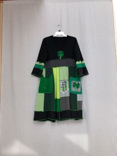 7ab9994d33d Excited to share this item from my  etsy shop  Upcycled Patchwork St  patricks Day