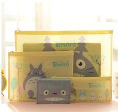 Novelty Totoro A4 A5 B6 Mini Document Bag Cute Cartoon PVC File Folder Stationery Filing Production #Affiliate