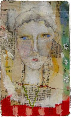 Lynne Hoppe - another Hoppe collage. I see the brown and tan one all the time. This one is new to me.