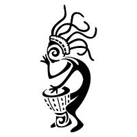 America - kokopelli, music, fertility, traveller, shaman, djembe, drum