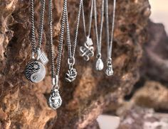 I love these Buddha to Buddha sterling silver pendent necklaces  because they go with anything and are so unique.