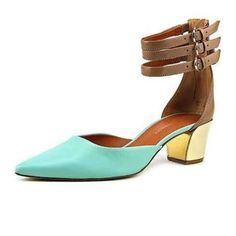Rebecca minkoff Irvin heels Gorgeous! Brown and mint colored strappy box heel! Perfect with literally any style outfit! Retails for $112 plus tax. Worn maybe twice so in excellent condition!  **********absolutely no trades!!!!!!******** Rebecca Minkoff Shoes Heels